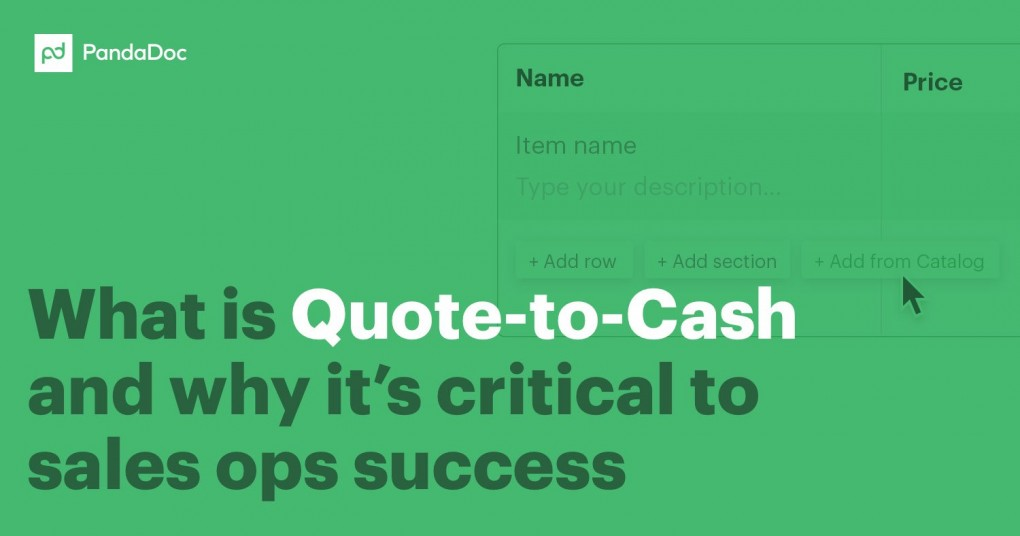 What Is QuotetoCash Software Q60C The PandaDoc Blog Simple Quote To Cash