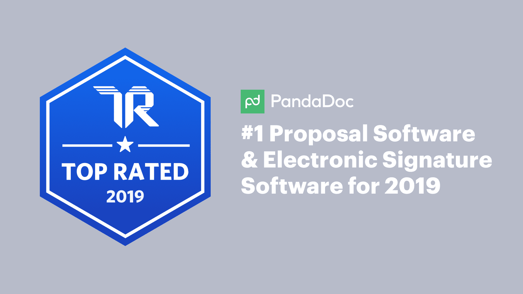 PandaDoc rated top proposal and eSignature software by TrustRadius