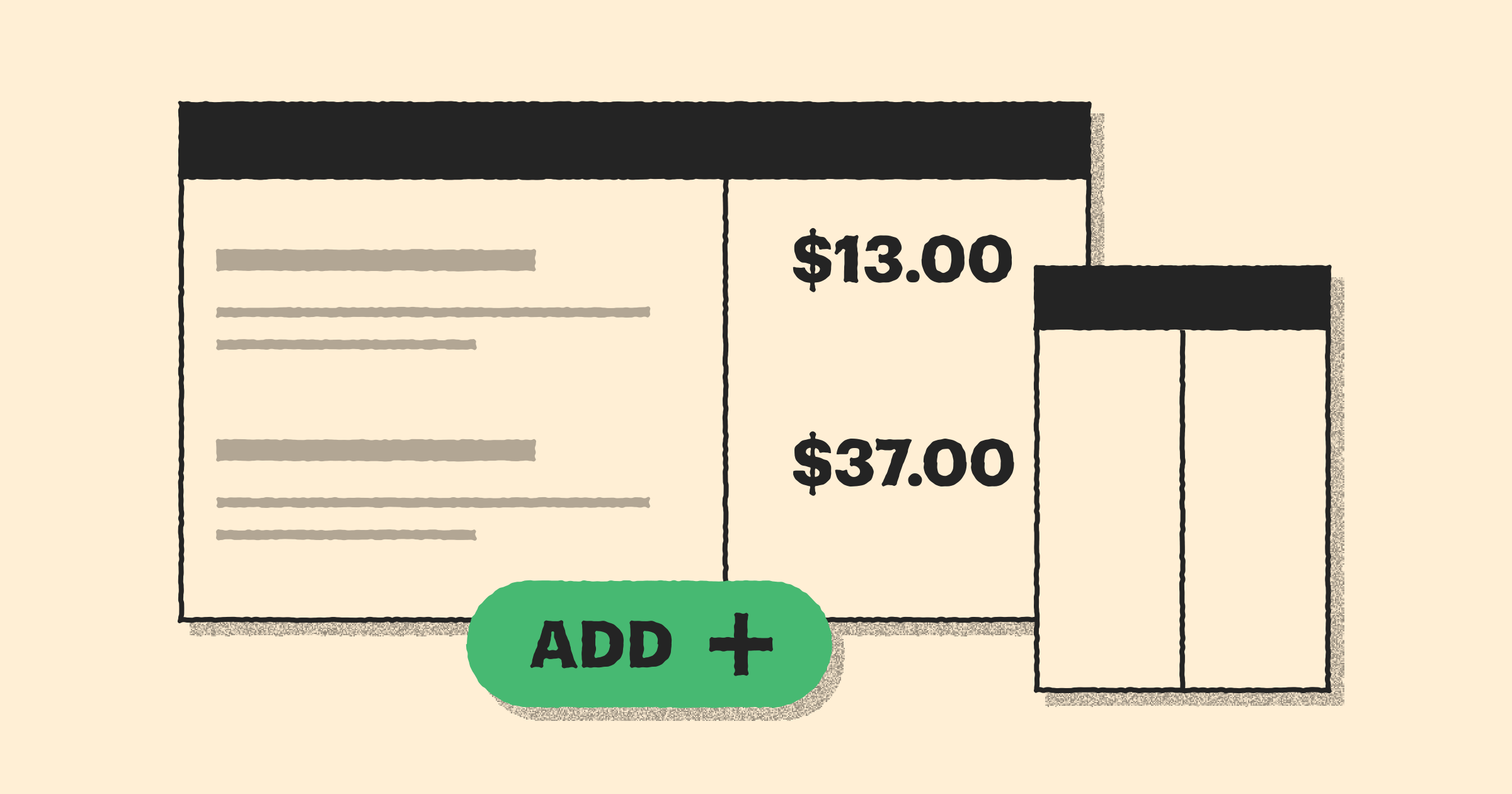 Pricing tables: reimagined